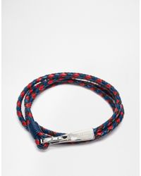Ted Baker | Blue Plaited Wrap Leather Bracelet for Men | Lyst