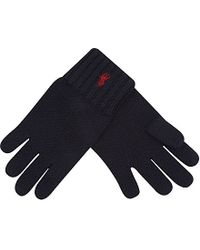 Ralph Lauren - Blue Wool Gloves - For Women - Lyst