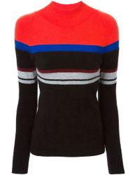 T By Alexander Wang - Red Colour Block Stripe Sweater - Lyst
