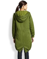 Marc By Marc Jacobs - Green Cotton Army Parka - Lyst