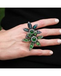 Wendy Yue - Green Tsavorite Flower Ring - Lyst