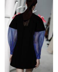 Delpozo - Black Double Faced Mini Dress - Lyst