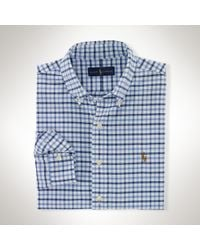 Polo Ralph Lauren | Blue Tattersall Cotton Oxford Shirt for Men | Lyst