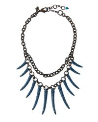 Sequin | Black Athena Pave Statement Necklace for Men | Lyst