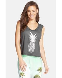 All Things Fabulous - Gray Crop Muscle Tee - Lyst