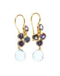 Marie-hélène De Taillac - Blue Sapphire, Aquamarine & Gold Earrings - Lyst