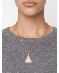 Irene Neuwirth - 18kt Gold And Pink Opal Pendant - Lyst