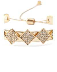 Forever 21 | Metallic Layered Rhinestoned Cuff | Lyst