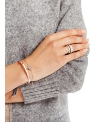 Monica Vinader - Pink Evil Eye 18kt Rose Gold-plated Bracelet - Lyst