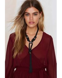 Nasty Gal | Black Magic Tassel Collar Necklace | Lyst