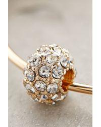Anthropologie - Metallic Jeweled Orbit Hoops - Lyst
