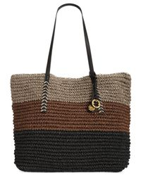 Lucky Brand | Black Tango Straw Large Tote | Lyst