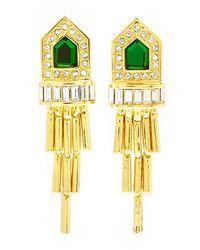 Rachel Zoe - Metallic Gold-plated Deco Fringe Earrings - Lyst