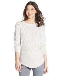 NIC+ZOE - Gray 'heathered Sky' Sweater - Lyst