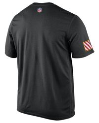 Nike - Black Mens Short-sleeve Carolina Panthers Salute To Service Legend T-shirt for Men - Lyst