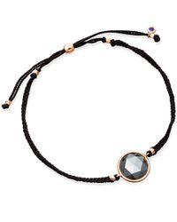 Astley Clarke | Pink Rose Gold Hematite Polka Biography Bracelet | Lyst