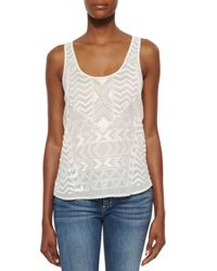 PAIGE - White Tammy Beaded Georgette Tank - Lyst