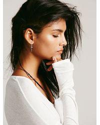 Free People - Metallic Katie Diamond Womens Violet Threader Earring - Lyst