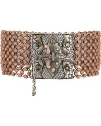 Sevan Biçakci - Pink Women's Bead Bracelet With Dagger Closure - Lyst