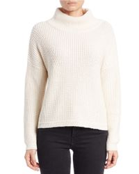 French Connection | White Cowl-neck Knit Sweater | Lyst
