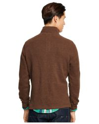 Polo Ralph Lauren | Brown French-rib Half-zip Pullover for Men | Lyst