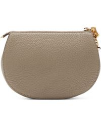 Chloé - Gray Grey Leather Drew Pouch - Lyst