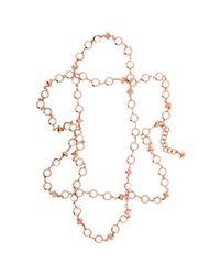 Ted Baker | Metallic Gemari Long Crystal Row Necklace | Lyst