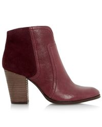 Dune - Purple Sibyl Block Heeled Over The Knee Boots - Lyst