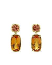 David Yurman | Chatelaine Drop Earrings With Madeira Citrine, And Orange Sapphires In 18k Gold | Lyst