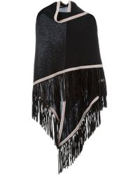 Antonia Zander | Black Fringed Shawl | Lyst