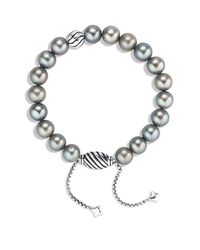 David Yurman - Metallic Spiritual Beads Bracelet With Gray Pearls - Lyst