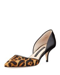 French Connection - Black Effie D\'Orsay Calf Hair And Leather Pump - Lyst