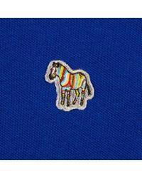 Paul Smith - Blue Men's Regular-fit Indigo Zebra-logo Polo Shirt for Men - Lyst