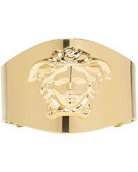 Versace - Metallic Gold Medusa Cuff - Lyst