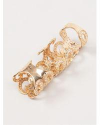 Joanna Laura Constantine | Metallic Baroque Long Ring | Lyst