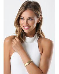 Bebe - Metallic Sleek Metal Hinge Bracelet - Lyst