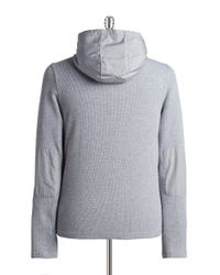 Michael Kors | Gray Contrast Waffle Jacket for Men | Lyst