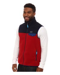 Patagonia | Red Lightweight Synchilla® Snap-t® Vest for Men | Lyst