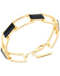 T Tahari | Metallic Rectangle Stone Linked Bracelet | Lyst