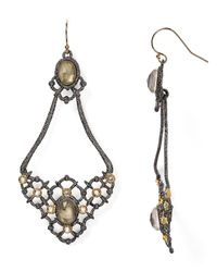Alexis Bittar | Metallic Elements Open-Lace Teardrop Earrings | Lyst