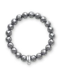 Thomas Sabo | Black Charm Club Hematite Stone Bracelet | Lyst