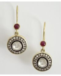 Amrapali | Metallic Soul Bazaar Collection Diamond  Ruby Drop Earrings | Lyst