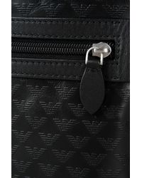 Emporio Armani - Black Messenger Bag for Men - Lyst