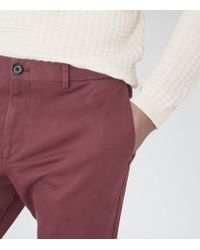 Reiss | Pink Bennett Straight Leg Chinos for Men | Lyst