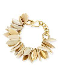 Ashley Pittman - Metallic Tanzu Light Horn Chain Leaf Bracelet - Lyst