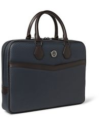 Dunhill - Blue Chassis Leather Briefcase for Men - Lyst