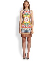 Clover Canyon - Natural Cuban Cigarprint Neoprene Dress - Lyst