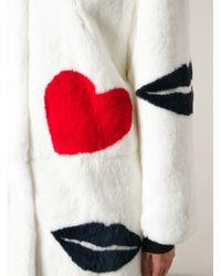MSGM - White Motif Fur Coat - Lyst