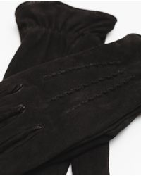 Zara | Black Suede Gloves for Men | Lyst