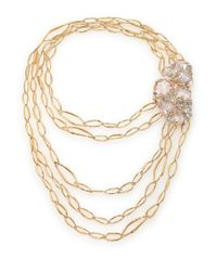 Alexis Bittar | Metallic Miss Havisham Jagged Crystal Multi-Row Liquid Link Necklace | Lyst